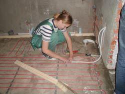 Монтаж электрического теплого пола в Калуге. электрический теплый пол